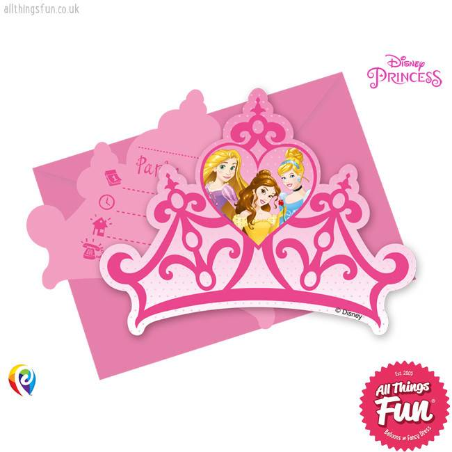 Procos Disney Princess - Invitations & Envelopes 6Ct