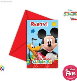 Procos Playful Mickey - Invitations & Envelopes 6Ct