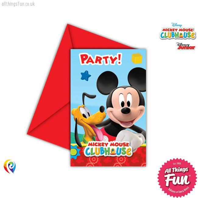 Procos Playful Mickey - Invitations & Envelopes 6Ct