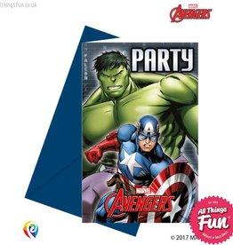 Procos Avengers Power - Invitations & Envelopes 6Ct