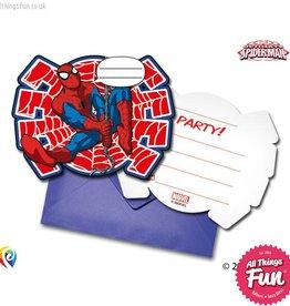 Procos Ultimate Spiderman - Invitations & Envelopes 6Ct