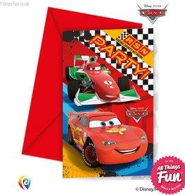 Procos Disney Cars - Invitations & Envelopes 6Ct