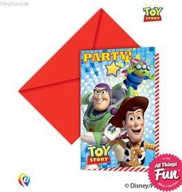 Procos Toy Story Star Power - Invitations & Envelopes 6Ct