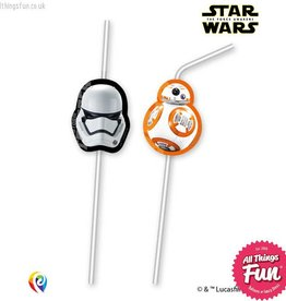 Procos *DISC* Star Wars The Force Awakens - Drinking Straws 6Ct
