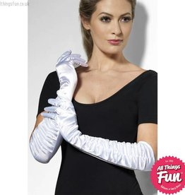 Smiffys White Long Temptress Gloves