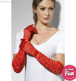 Smiffys Red Long Temptress Gloves