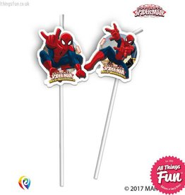 Procos Ultimate Spiderman - Drinking Straws 6Ct