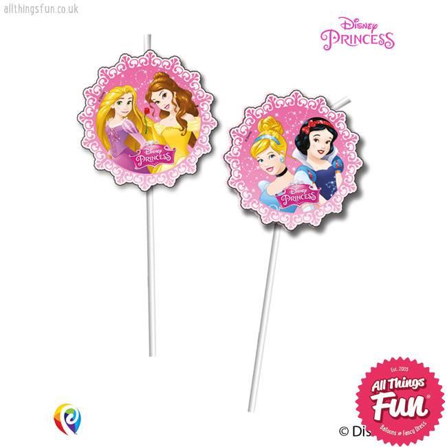 Procos Disney Princess - Drinking Straws 6Ct
