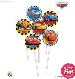 Procos Disney Cars - Drinking Straws 6Ct