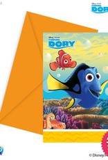 Procos *DISC* Finding Dory - Invitations & Envelopes 6Ct