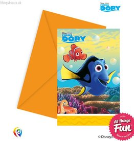 Procos Finding Dory - Invitations & Envelopes 6Ct