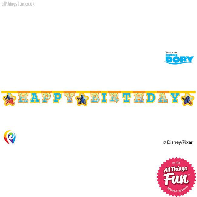 Procos *DISC* Finding Dory - Banner 1ct - Happy Birthday