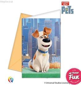 Procos *DISC* The Secret Life Of Pets - Invitations & Envelopes 6Ct