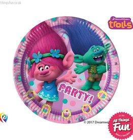 Procos Trolls - Party Paper Plates 8Ct