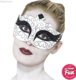Smiffys Gothic Swan White Eyemask