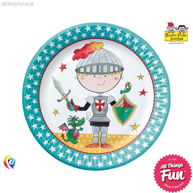 Pioneer Balloon Company Paper Plates - Knight