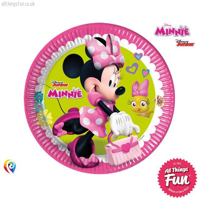 Procos Disney Minnie Mouse - Party Paper Plates (23cm) 8Ct