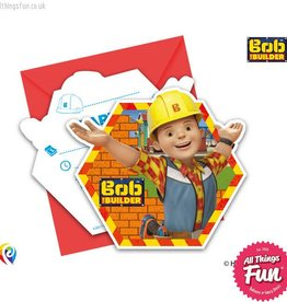 Procos Bob The Builder - Invitations & Envelopes 6Ct