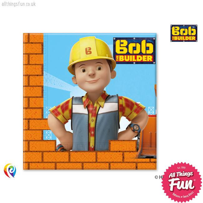 Procos Bob The Builder - Party Napkins 20Ct