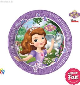 Procos Sofia The First - Party Paper Plates (23cm) 8Ct