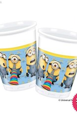 Procos Lovely Minions - Cups Plastic 200Ml 8Ct