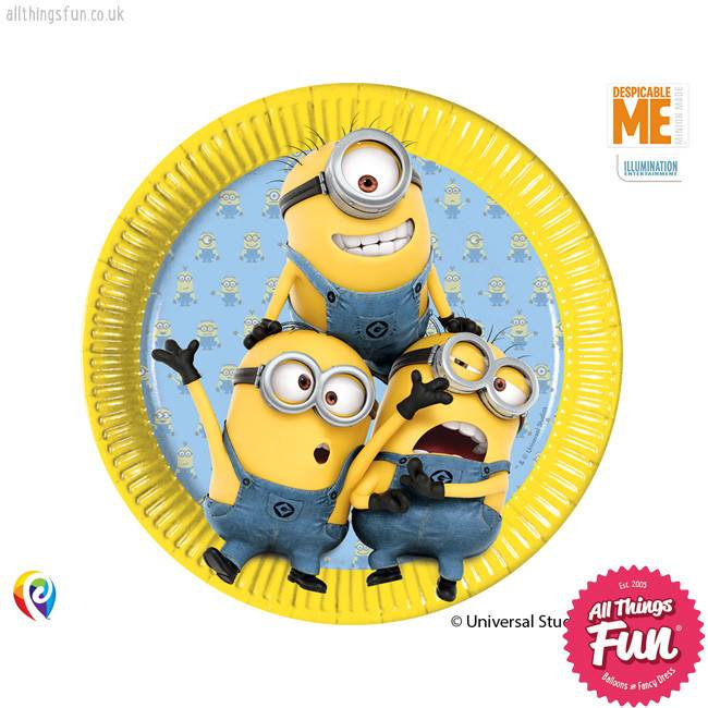 Procos Lovely Minions - Plates Paper Large 23Cm 8Ct