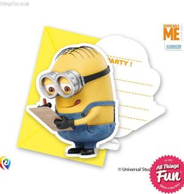 Procos Lovely Minions - Invitations & Envelopes 6Ct