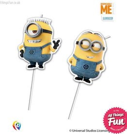 Procos Lovely Minions - Straws Flexi Medallion 6Ct