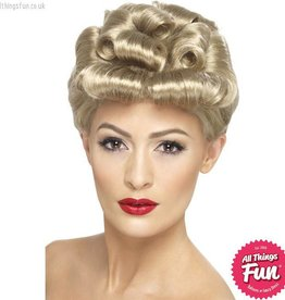 Smiffys 40's Vintage Blonde Wig with Curls