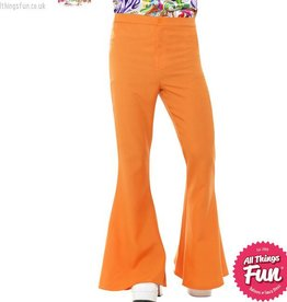 Smiffys Mens Orange Flared Trousers