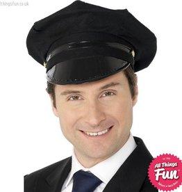 Smiffys Black Chauffeur Hat