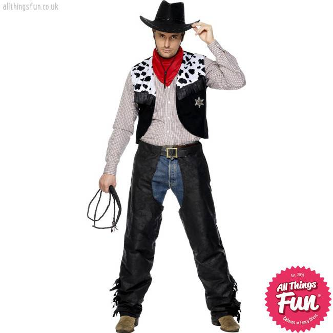 Smiffys Cowboy Leather Costume ...  sc 1 st  Things Fun - Balloons u0026 Fancy Dress - Peterlee & Smiffys Cowboy Leather Costume - All Things Fun - Balloons u0026 Fancy Dress