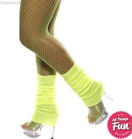 Smiffys Neon Yellow Legwarmers