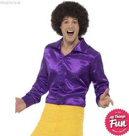Smiffys Purple 60s Shirt