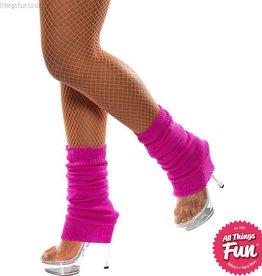 Smiffys Hot Pink Legwarmers