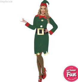Smiffys Female Green Elf Costume
