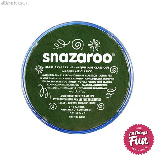 Snazaroo Snazaroo Classic Dark Green 18ml pot