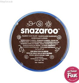 Snazaroo Snazaroo Classic Dark Brown 18ml pot
