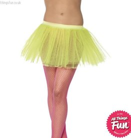 Smiffys Neon Yellow Tutu Underskirt with 4 Layers 30cm Long