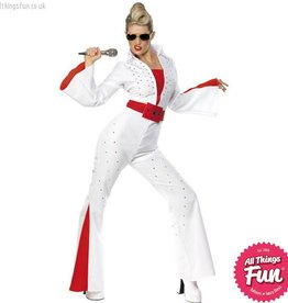 Smiffys *DISC* Elvis Jumpsuit and Belt Female Large