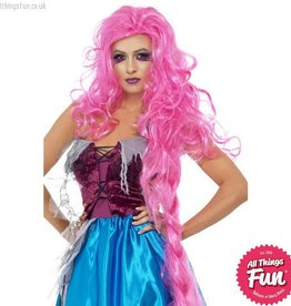Smiffys *DISC* Mangled Maiden Pink Wig