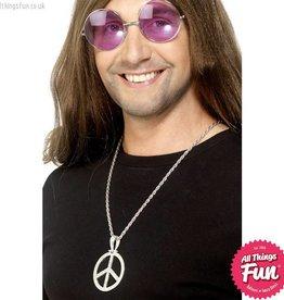Smiffys 60's Peace Sign Hippie Medallion