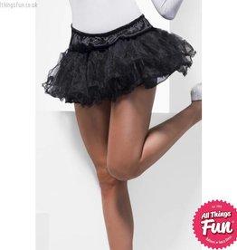 Smiffys Tulle Black Petticoat
