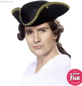 Smiffys Dick Turpin Black Tricorn Hat