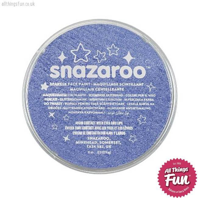 Snazaroo Snazaroo Sparkle Blue 18ml pot