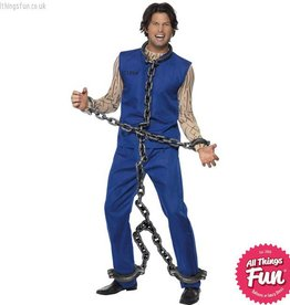 Smiffys *SP* Silver Full Body Shackle Convict Chains