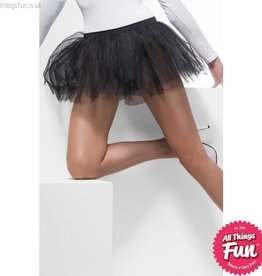 Smiffys Black Tutu Underskirt with 4 Layers 30cm Long