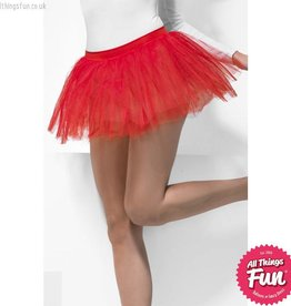 Smiffys Red Tutu Underskirt with 4 Layers 30cm Long