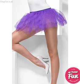 Smiffys Purple Tutu Underskirt with 4 Layers 30cm Long