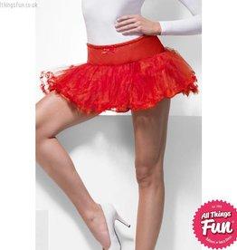 Smiffys Red Tulle Petticoat